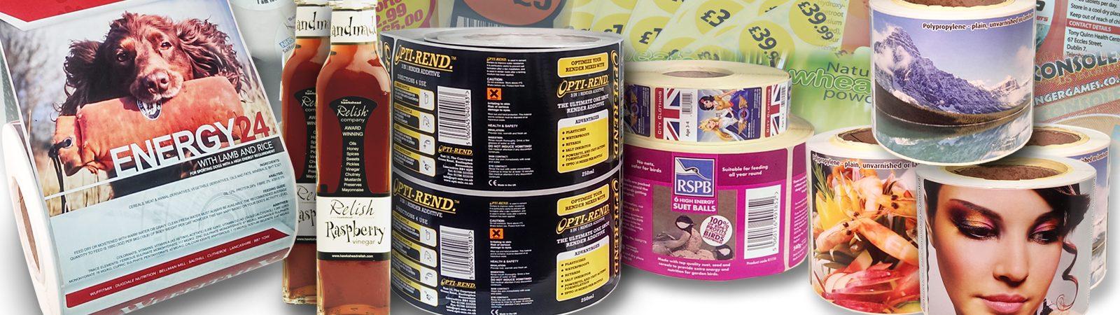 Digital labels, plain labels, glass printed jar, adhesive stickers